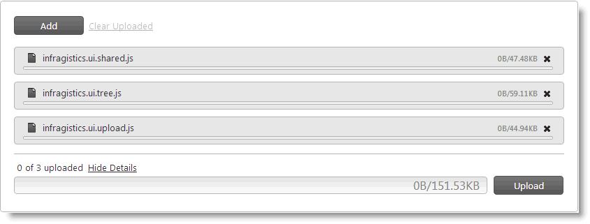 Configuring igUpload - Ignite UI™ Help