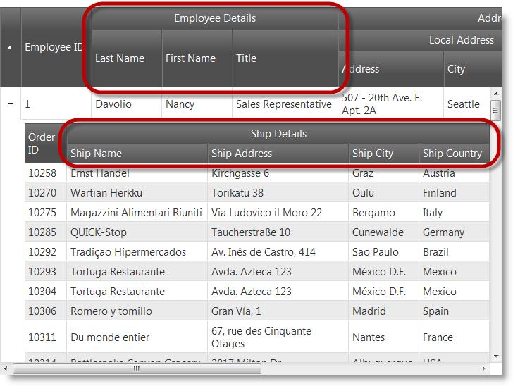 Configuring Multi Column Headers - Ignite UI™ Help