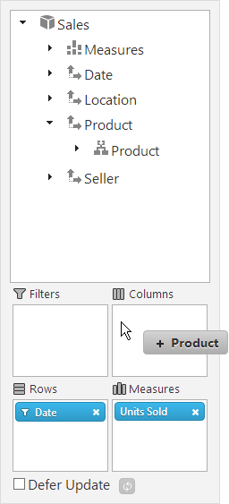 Configuring the Tabular View of the Pivot Grid Result Set